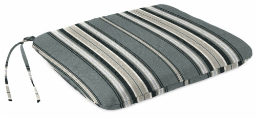 Jordan Manufacturing Terrace Noir Outdoor Monoblock Seat Cushions Perspective: front