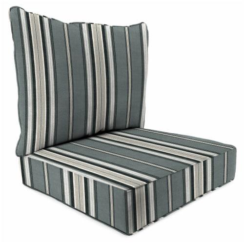 Jordan Manufacturing Terrace Noir Outdoor Deep Seat Chair Cushion Perspective: front