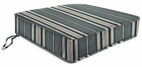 Jordan Manufacturing Terrace Noir Outdoor Boxed Edge Deep Seat Cushion Perspective: front