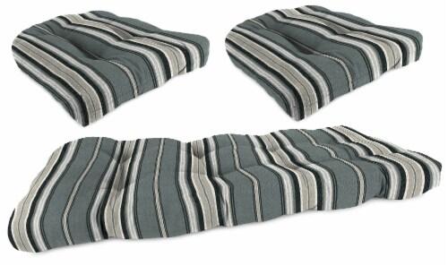 Jordan Manufacturing Terrace Noir 3-Piece Outdoor Wicker Set Perspective: front
