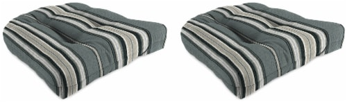 Jordan Manufacturing Terrace Noir Outdoor Wicker Chair Cushions Perspective: front