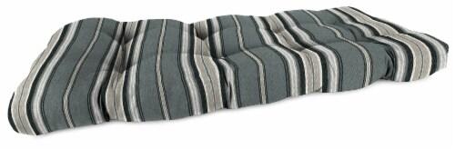Jordan Manufacturing Terrace Noir Outdoor Wicker Loveseat Cushion Perspective: front