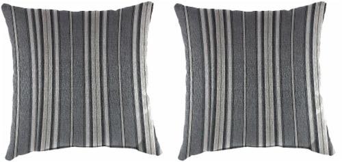 Jordan Manufacturing Outdoor Throw Pillows - 2 Pack - Terrace Noir Perspective: front