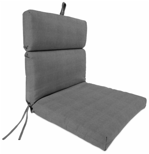 Jordan Manufacturing Tango Zinc Outdoor French Edge Dining Chair Cushion Perspective: front