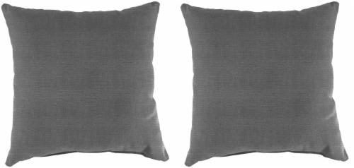 Jordan Manufacturing Tango Zinc Outdoor Accessory Throw Pillows - 2 Pack Perspective: front