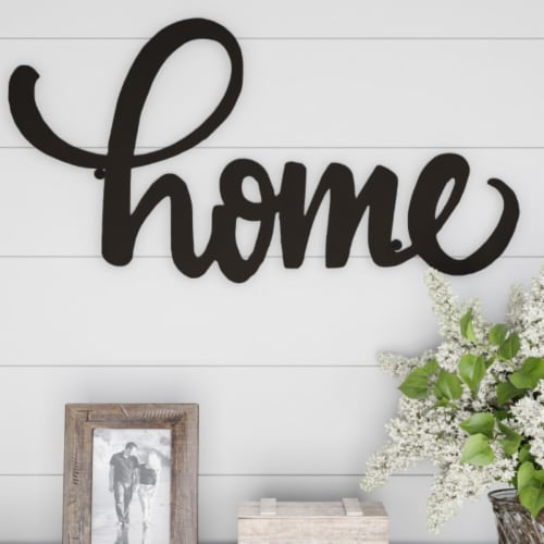 Metal Cutout- Home Decorative Wall Sign-3D Word Art Home Accent Decor Perspective: front
