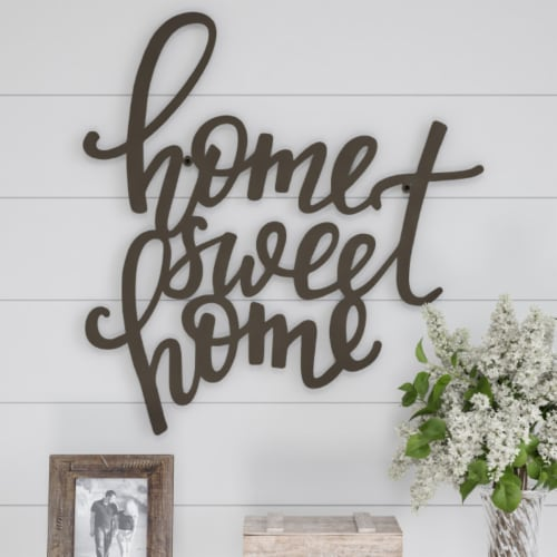 Metal Cutout- Home Sweet Home Decorative Wall Sign-3D Word Art Home Accent Decor Perspective: front