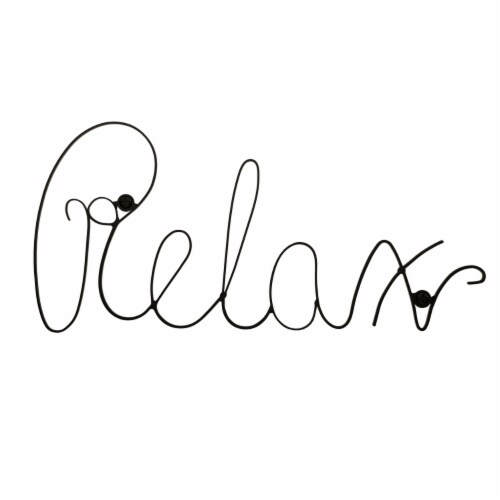 Metal Cutout- Relax Decorative Wall Sign-3D Word Art Home Accent Decor Flat Wall Hanging Perspective: front