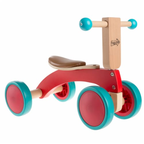 Walk and Ride Wooden 4 Wheel Tricycle with Seat Walking 1 - 2 Yrs Old Perspective: front