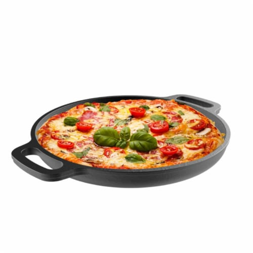 Classic Cuisine 82-KIT1089 Cast Iron Pizza Pan-13.25 in. Pre-Seasoned Skillet for Cooking Perspective: front