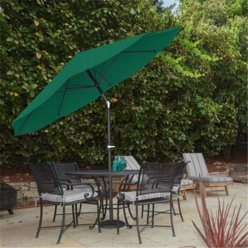 Pure Garden 50-LG1034 Patio Umbrella with Auto Tilt - Hunter Green - 10 ft. Perspective: front