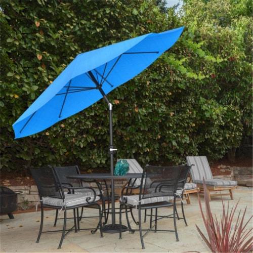 Pure Garden 50-LG1035 Patio Umbrella with Auto Tilt - Brilliant Blue - 10 ft. Perspective: front