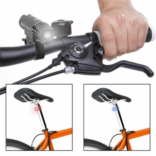 Wakeman 75-WL2052 USB Rechargeable Bike Headlight & 2 Tail LED Bicycle Light Set Perspective: front