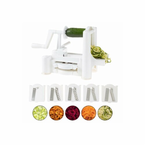 Classic Cuisine 82-KIT1108 5 Blade Vegetable Spiralizer Perspective: front