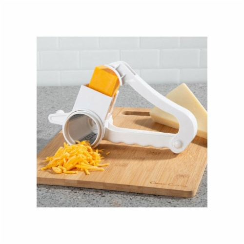 Classic Cuisine Rotary Grater Handheld Manual Crank Shredder Perspective: front