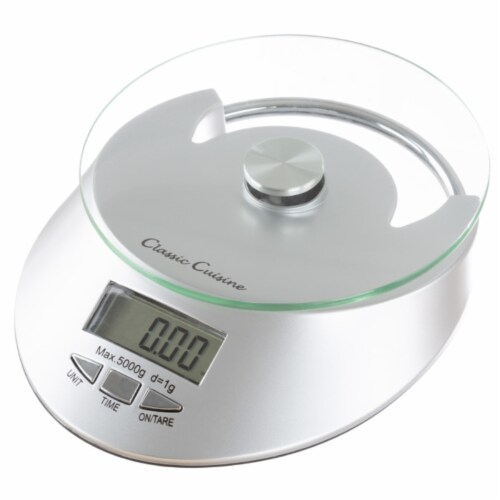Kitchen Scale-Digital Electronic Food Weighing Appliance, 11LB. or 5000g Capacity-Measure Perspective: front