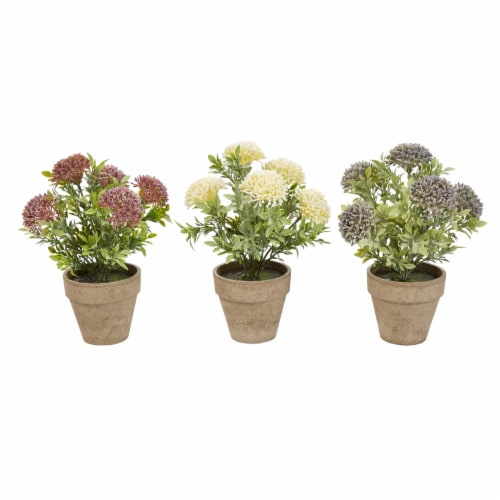 Faux Flowers  Assorted Natural Lifelike 10  Floral Arrangement and Imitation Greenery with Perspective: front