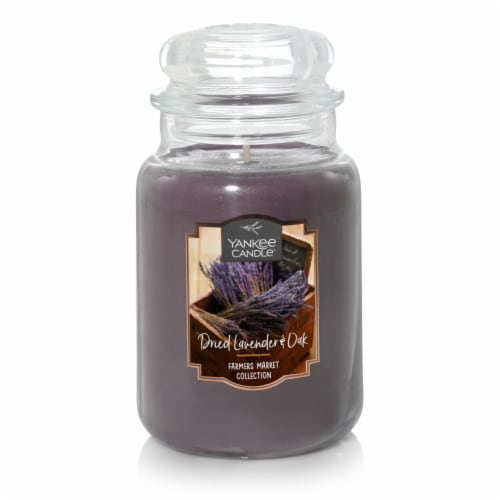Yankee Candle Dried Lavender & Oak Large Jar Candle - Purple Perspective: front