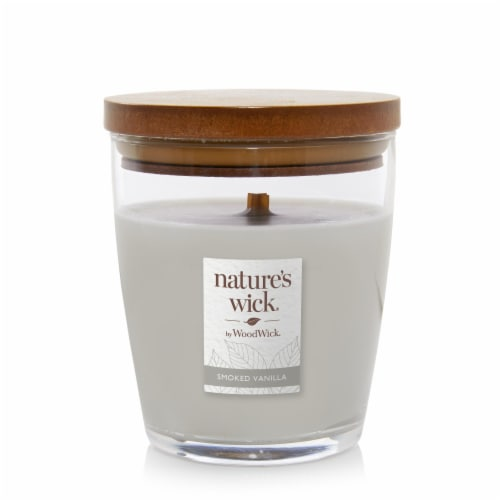 WoodWick® Nature's Wick Smoked Vanilla Jar Candle Perspective: front