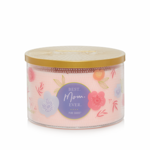 Yankee Candle® Pink Sands™ Best Mom Ever 3-Wick Candle Perspective: front