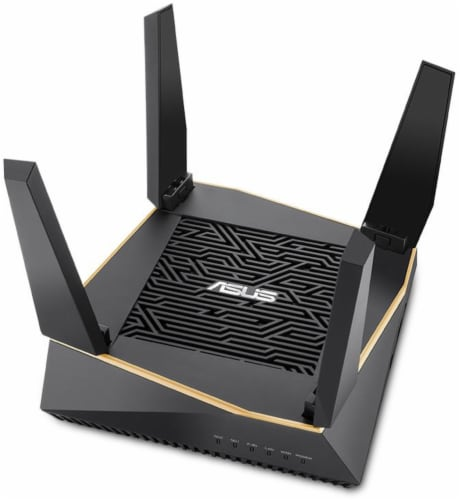 Asus Tri Band WiFi 6 Router Perspective: front