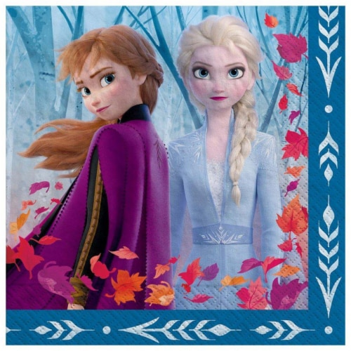 Amscan 622540 Frozen 2 Lunch Napkin - Pack of 16 Perspective: front