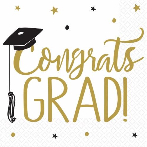 Ampro Congrats Grad Graduation Lunch Napkins Perspective: front
