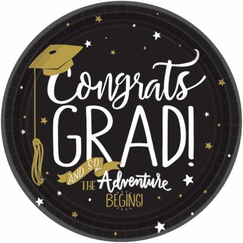 Ampro Congrats Grad Graduation Plates - 8 pk Perspective: front