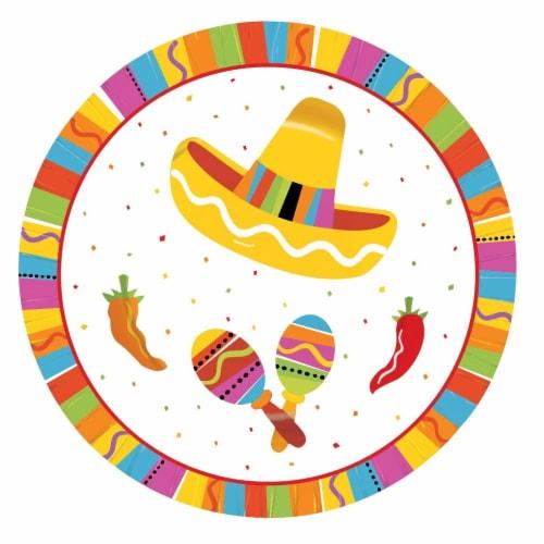 Amscan Fiesta Fun Round Plates Multi Color 7