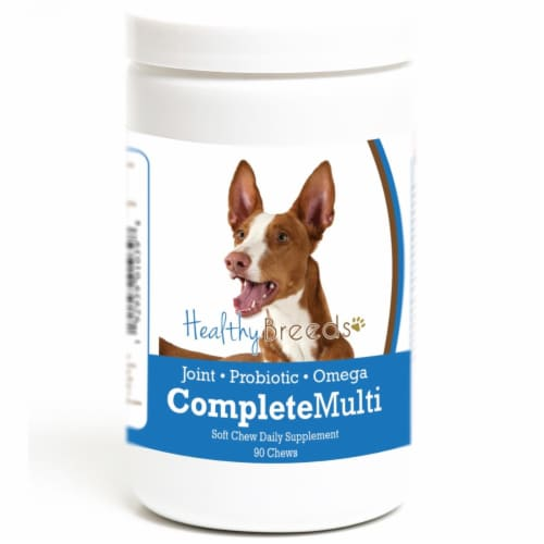 Healthy Breeds 192959010398 Ibizan Hound all in one Multivitamin Soft Chew - 90 Count Perspective: front