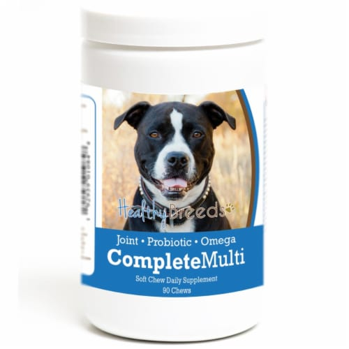 Healthy Breeds 192959010848 Pit Bull all in one Multivitamin Soft Chew - 90 Count Perspective: front