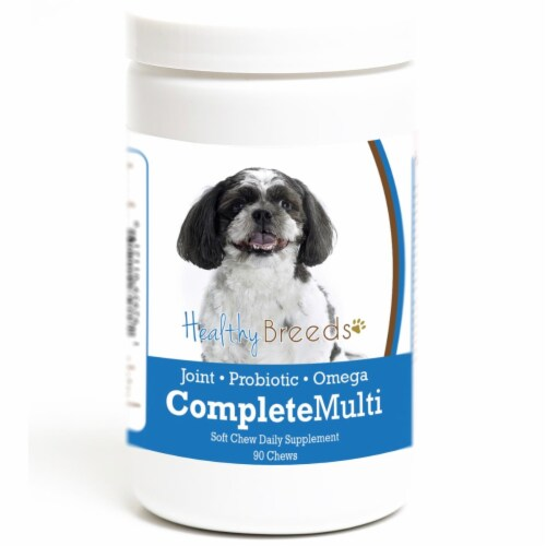 Healthy Breeds 192959011210 Shih-Poo all in one Multivitamin Soft Chew - 90 Count Perspective: front