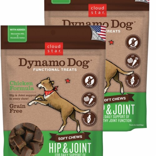 Cloud Star 192959800265 5 oz Dynamo Dog Hip & Joint Chicken Functional Treats - Pack of 2 Perspective: front