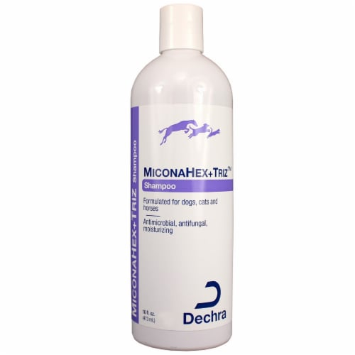Dechra 192959807547 MiconaHex Triz Shampoo for Cats & Dogs, 16 oz Perspective: front