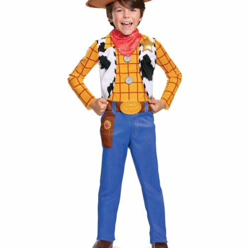 Disguise 402995 Child Toy Story 4 Woody Classic Costume, Medium 7-8 Perspective: front