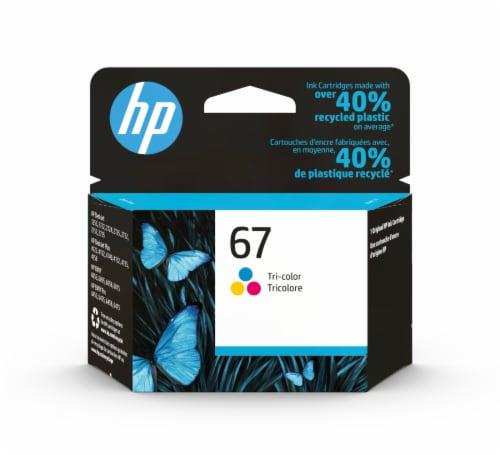 HP 67 Tri-Color Original Ink Cartridge Perspective: front