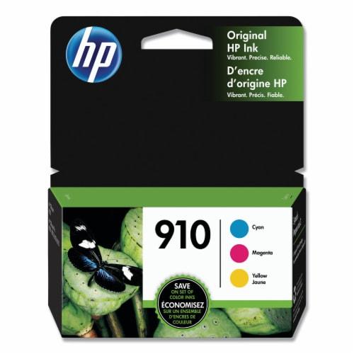 HP 910 Original Color Ink Cartridges - Cyan/Magenta/Yellow Perspective: front