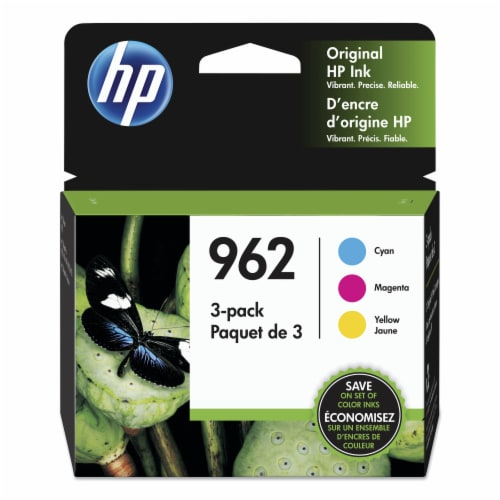 HP 962 Original Color Ink Cartridges - Cyan/Magenta/Yellow Perspective: front
