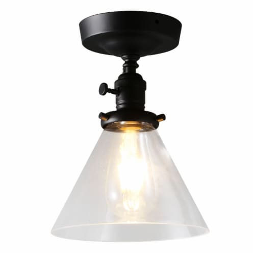 7.3 in. 1-Light Semi Flush Mount Light Perspective: front