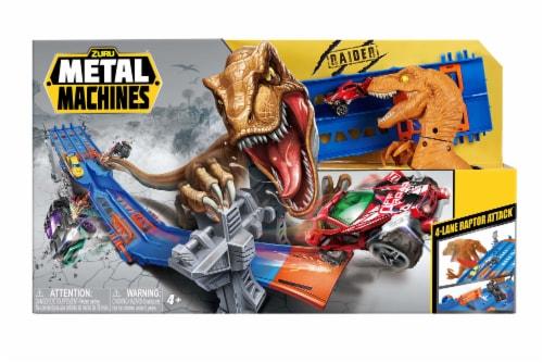 Zuru Metal Machines 4 Lane Raptor Attack Track Set Perspective: front