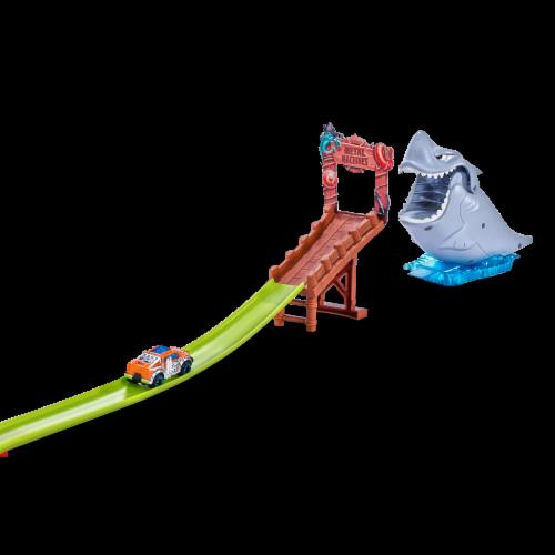 Zuru Metal Machines Shark Attack Series 1 Playset Perspective: front