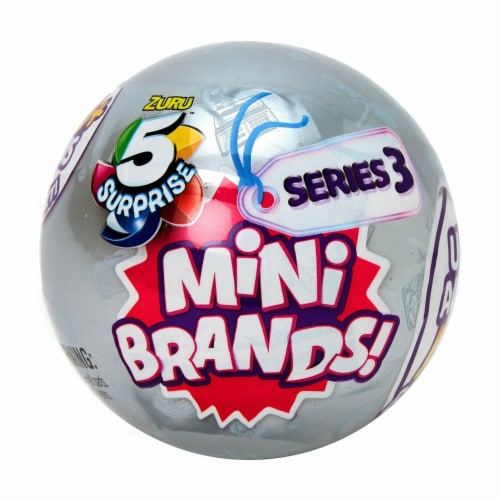 Zuru™ 5 Surprise Mini Brands Series 3 Real Miniature Brands Collectible Toy Perspective: front