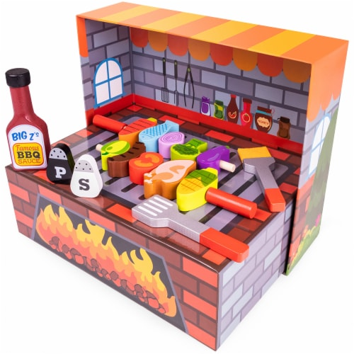 Grill N' Fill BBQ Barbecue Playset Perspective: front