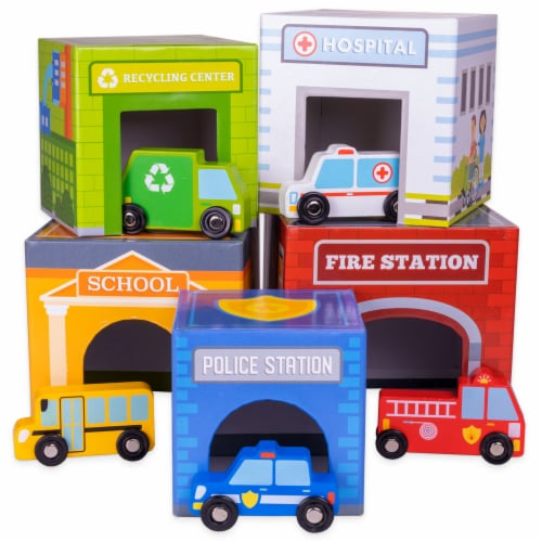 Little City Match 'n Stack Nesting Blocks Perspective: front