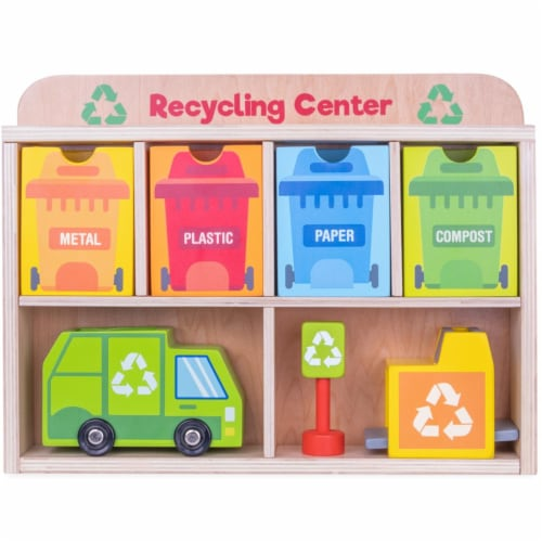 Reduce and Reuse Recycling Center Playset Perspective: front