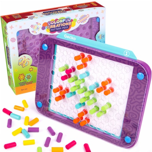 Colorful Creations Pattern Pegs Perspective: front