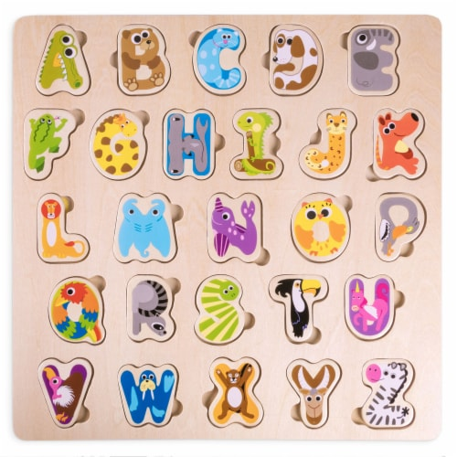 Professor Poplar's Animal Alphabet Puzzle Perspective: front