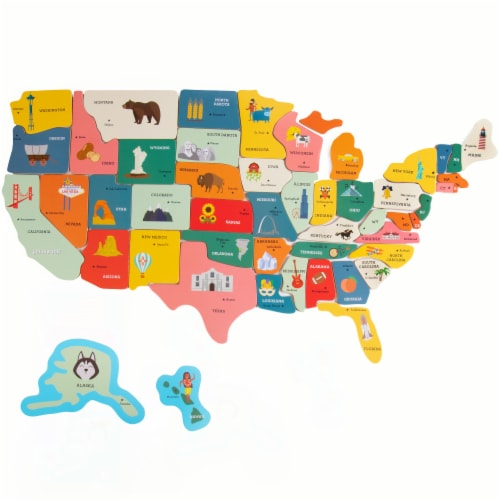 Professor Poplar's Fifty-Nifty Magnetic USA Map Perspective: front