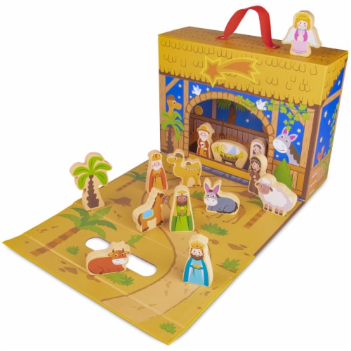 My First Noel Nativity Story Box Perspective: front