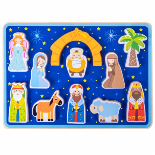 Piece on Earth Nativity Children's Puzzle Perspective: front